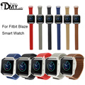 2017 wholesale price Strap Band for Fitbit Blaze Tracker Smart Fitness Watch Leather Loop with Magnet Lock hot sale