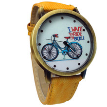 New Sale Fashion Unisex Watches Casual Fashion Jean Strap Bicycle Watches relogio feminino Wholesale #5067