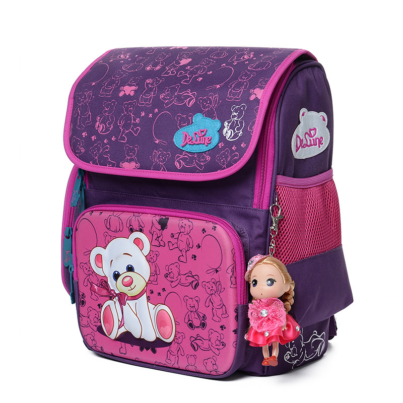 Delune Cute School Bag Children School font b Backpacks b font Character Zipper font b Backpack