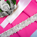 TOPQUEEN S149 FREE SHIPPING Colorful Crystal Wedding Belts Real Samples Satin Beading Bridal Belts Amazing Wedding Sashes