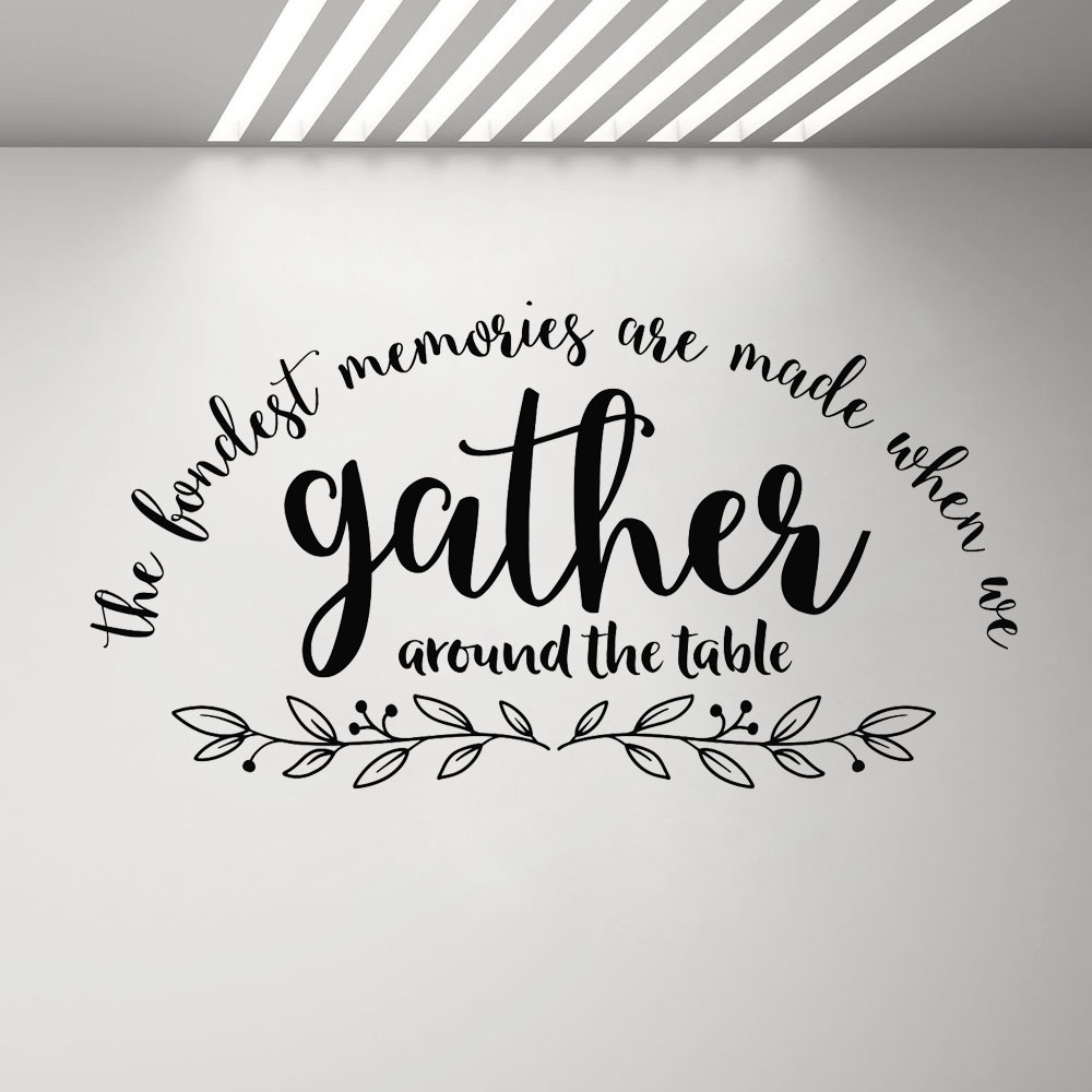 """FONDEST MEMORIES Kitchen Dining Room Wall Decal 36/"""""""
