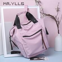 Casual Nylon Waterproof Backpack Women Big Capacity Schoolbags Fashion Solid Color Travel Laptop Teen Girls Bookbags