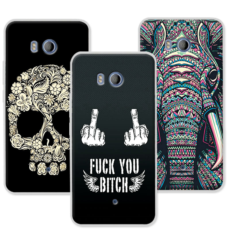 Silicone Coque For HTC U11 Phone Case 12 Styles New Arrival Dark Mans Soft Back Cover For HTC U11 U 11 Dual Sim Case 5.5+Gift