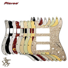 Pleroo Great Quality Guitar parts 3 P-90 Stratocaster Guitar PICKGUARD For US 11 Screw Holes Strat 3 P90S Humbucker цена