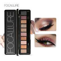 Focallure novo pro 10 cores conjunto feminino à prova dwaterproof água maquiagem sombra paleta sobrancelha sombra de olho em pó cosméticos com escova