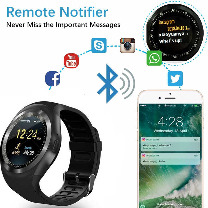 Y1X T1 KW18 Bluetooth smart watch full screen Support SIM 16GB TF Card  Smartwatch Phone Heart Rate for apple IOS gear s2 huawei