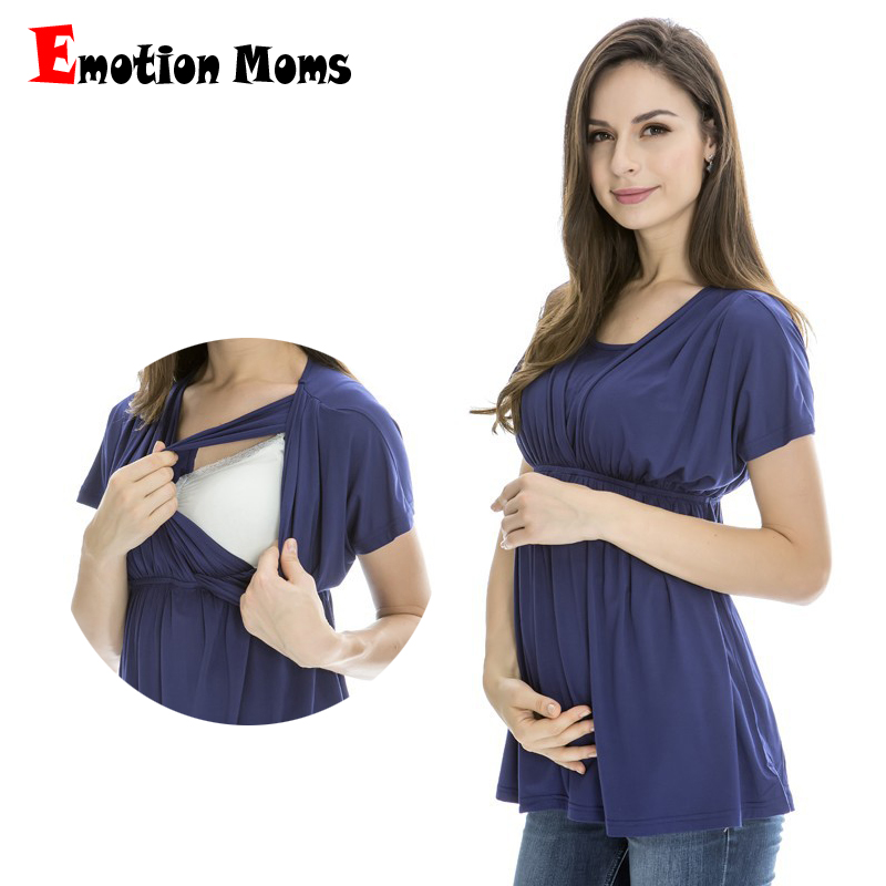 Emotion Moms Summer Maternity clothes Lactation top Breastfeeding Tops pregnancy clothes for pregnant women Maternity Tops