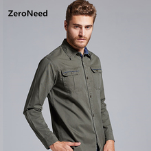 Mens Dress Shirts Classic Fit  Long Sleeve Shirt Vintage Military Uniform Style Leisure Shirts Camisa Masculina Social Shirt 32