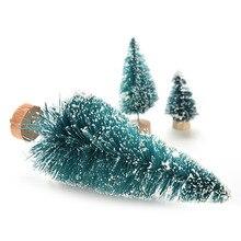 1 шт. Рождественская елка маленькая сосна. Помещается в настольную мини-елку 3 размера рождественские украшения для дома