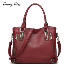Tonny Kizz fashion shoulder bags for women leather handbag female crossbody solid color with zipper ladies tote hand