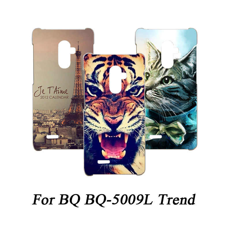 Soft Tpu Phone Case For BQ BQ-5009L Cases Silicone Painted Wolf Rose Cat Eiffel Fundas Sheer For BQ BQ-5009L Back Cover