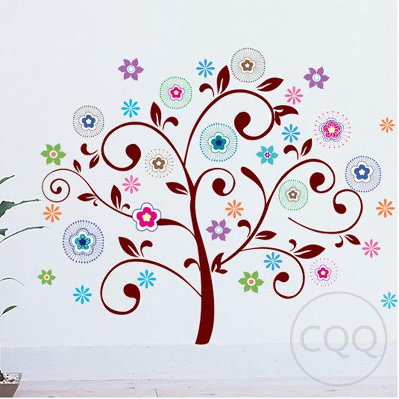 Rbol de dibujos animados etiqueta de la pared decoraci n for App decoracion hogar