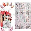 BeautyNailArt 90 Hoja/LOT 3D del Brillo del Oro de Navidad pegatinas de uñas Accesorios de uñas para uñas de arte de diseño