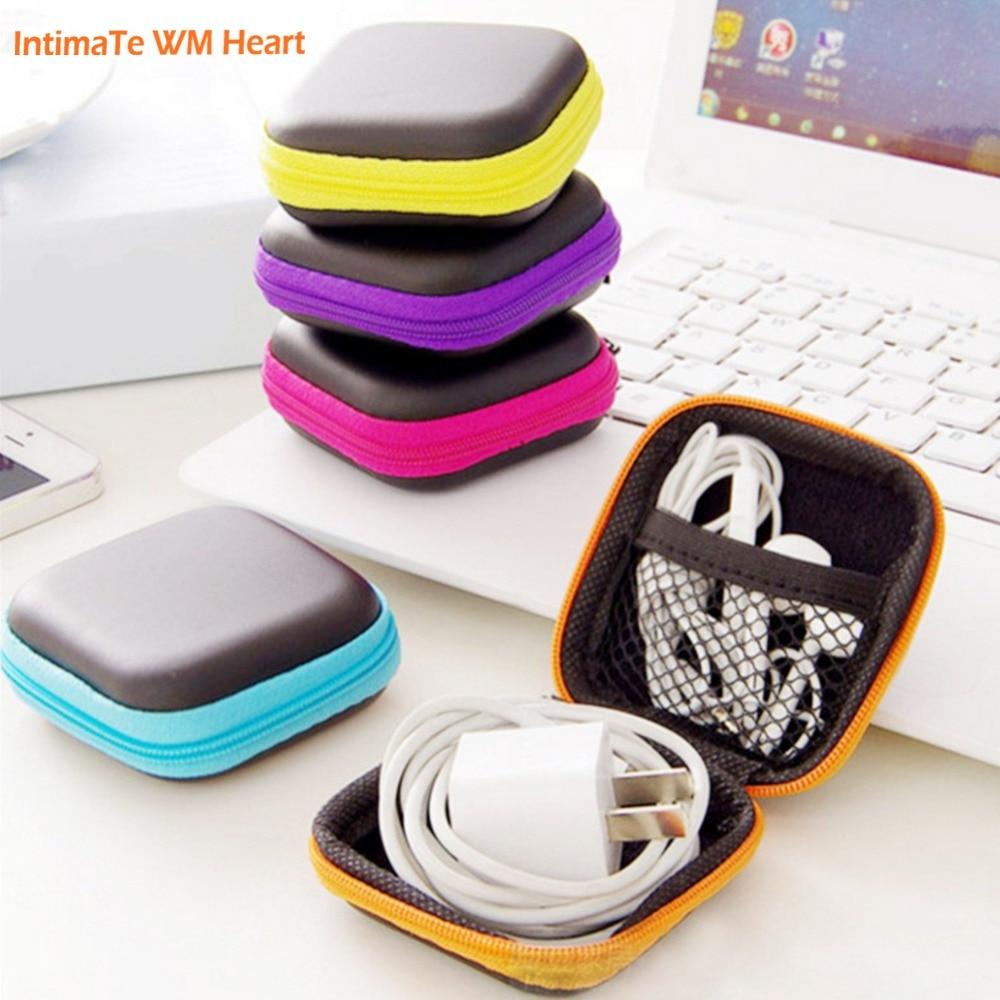 1Pc tároló táska fülhallgatóhoz EVA fejhallgató tok Container kábel Earbuds tároló doboz tasak táska tartó csepp szállítás A30