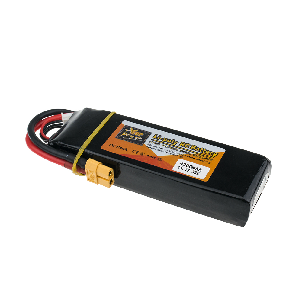 11.1V 3S 35C Zop Lipo 4200mAh Batteria RC Drone XT60 T Battery Li-poly For RC Helicopter Airplane Aeromodelismo Battery VS VOK