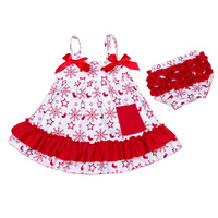 2017 Baby Clothes Summer Baby Girl Clothing Set Cotton 0 24M Bow Sling Dresses With Bloomers
