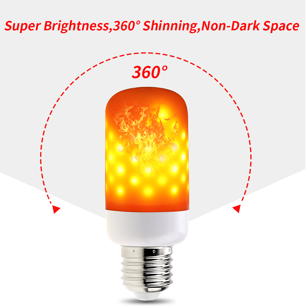 LED Flame Lamp E27 Flame Effect Light E26 E14 Simulation Fire Burning Candle Bulb AC85 265V Holiday Atmosphere Decoration Lights in LED Bulbs Tubes from Lights Lighting