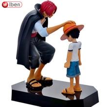 Аниме One Piece Соломенная Шляпка Луффи Шанкс рыжие волосы украшения Фигурки Подарок Игрушки Куклы 18 см Ребенок Луффи Модели Пвх коллекция