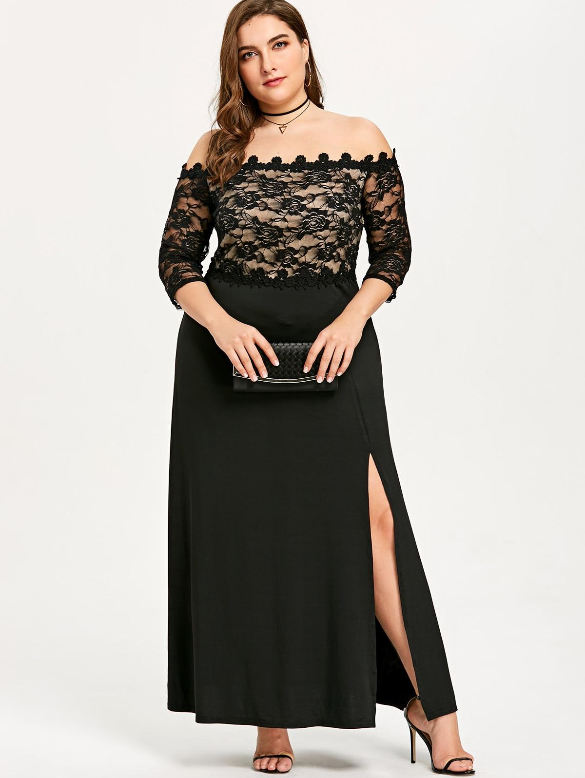 783d155e6d285 Dresses Cheap Dresses Gamiss Plus Size Slit Off Shoulder Maxi.We offer the  best wholesale price