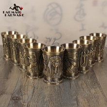 1PCS 40ml Metal Alloy Creative Ancient Egypt Shot Glass Bar Drinkware Accessories