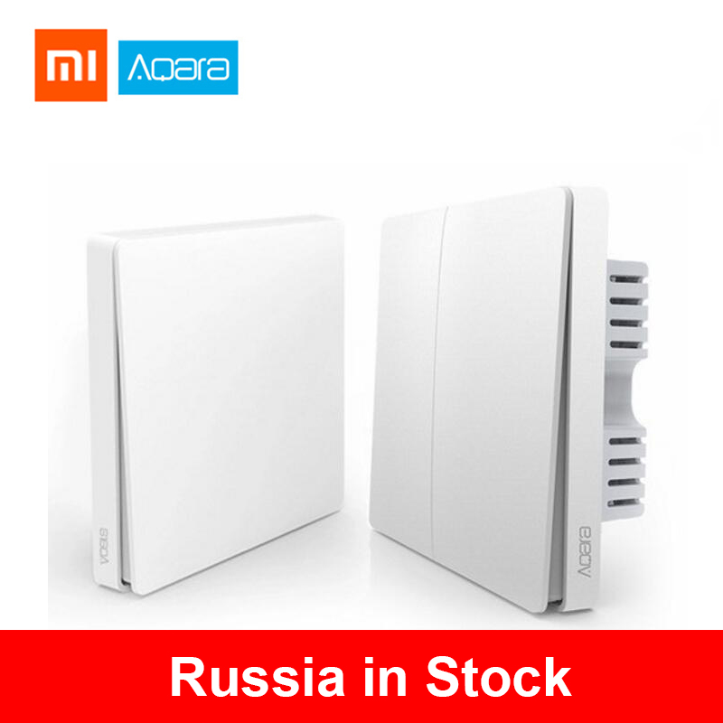 Xiaomi Wall Switch Aqara ZigBee Smart Light Wall Switches No Neutral Fire Wire Light Remote Control Wireless Key Relay Mi Home