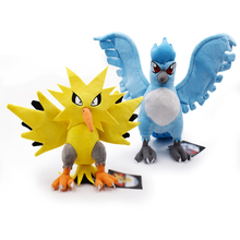 Anime 2 Styles Articuno Zapdos Rare Peluche Plush Toy Soft Stuffed Dolls 29-30cm Gift for Kids Free Shipping