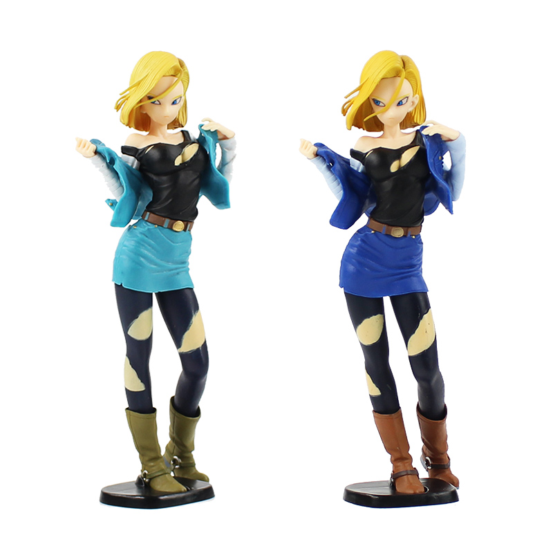 Anime Dragon Ball Z Super Saiyan Android 18 Lazuli PVC Action Figure Toy Doll