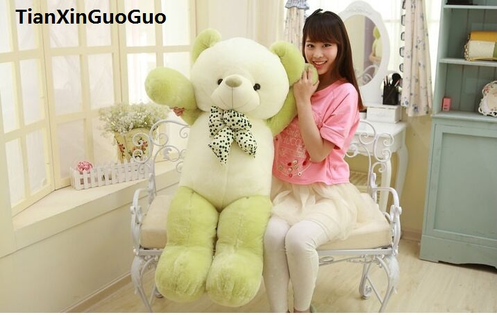 stuffed plush toy green teddy bear large 120cm bear doll soft throw pillow,birthday gift h0700 stuffed animal largest 200cm light brown teddy bear plush toy soft doll throw pillow gift w1676