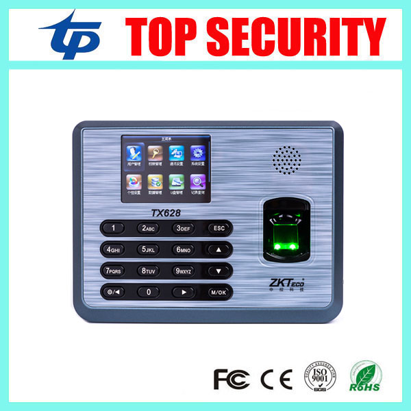 New arrived ZMM220 new firmware ZK TX628 TCP/IP RS232/485 biometric fingerprint time attendance linux system fingerprint reader zk tx628 3 inch color screen new tx628 id 125khz tcp ip rs232 485 biometric fingerprint time attendance recorder time clock sdk