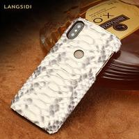 Natural Python Leather phone case For Xiaomi Mi 9 9T 9T Pro 9SE Mi 8 8 SE 8 LITE covers For Redmi k20 k20 PRO NOTE 7 5 4x 5PLUS