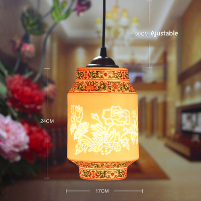 2016 Retro Vintage Pendant Light Indoor Light Home Decor Chinese Style Cord Ceramic Lamp Pendant Lighting For Restaurants цена и фото