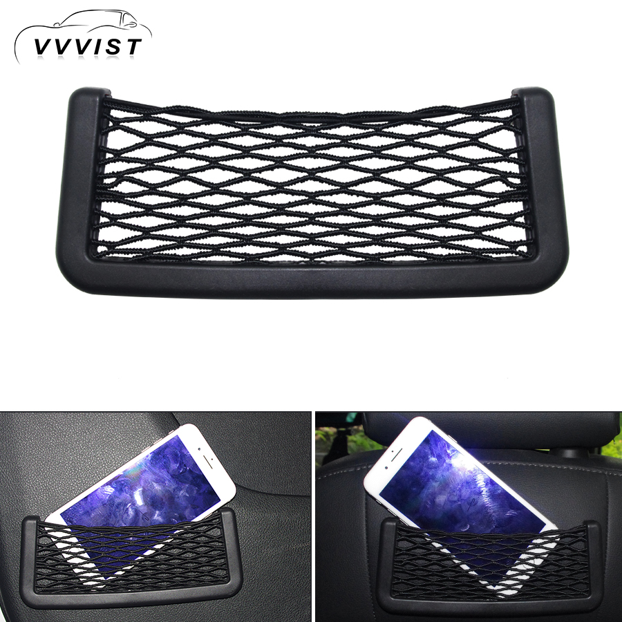 2018 VVVIST Universal Small Car Net Bag Back Storage Net Pocket String Bag Mesh Pocket Organizer Stick-On Wallet Phone Net Bag цена 2017