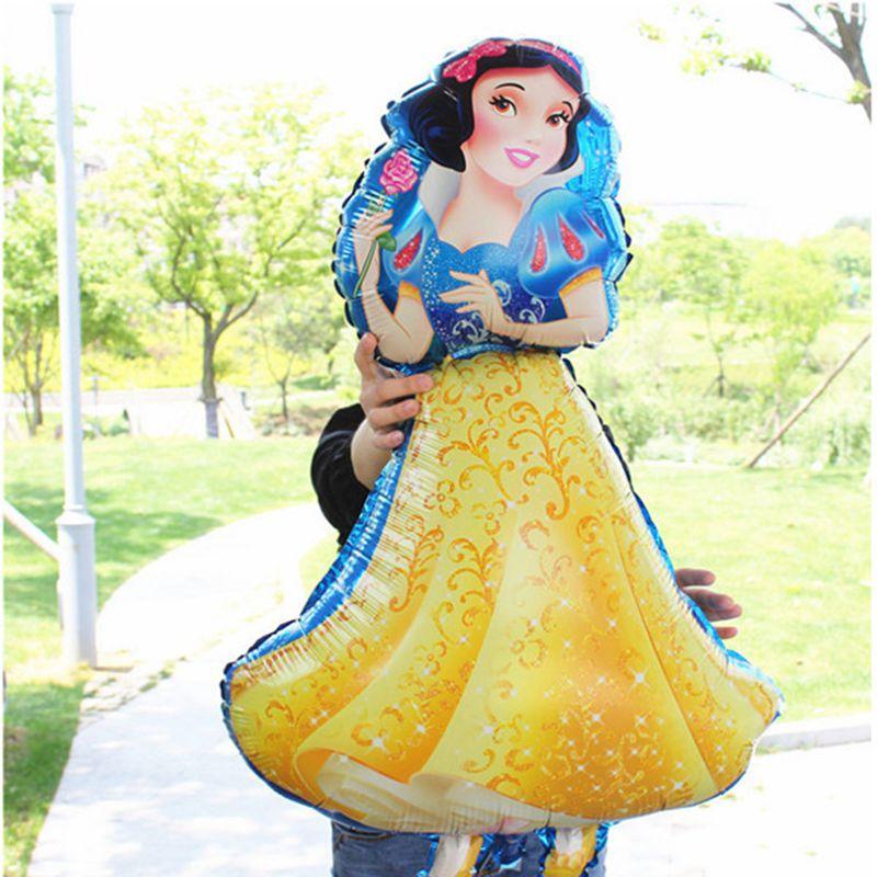 1PC Birthday Party Balloons Large Cinderella Snow White Princess Five Princess Foil Balloons Baby Shower Decoration Globos