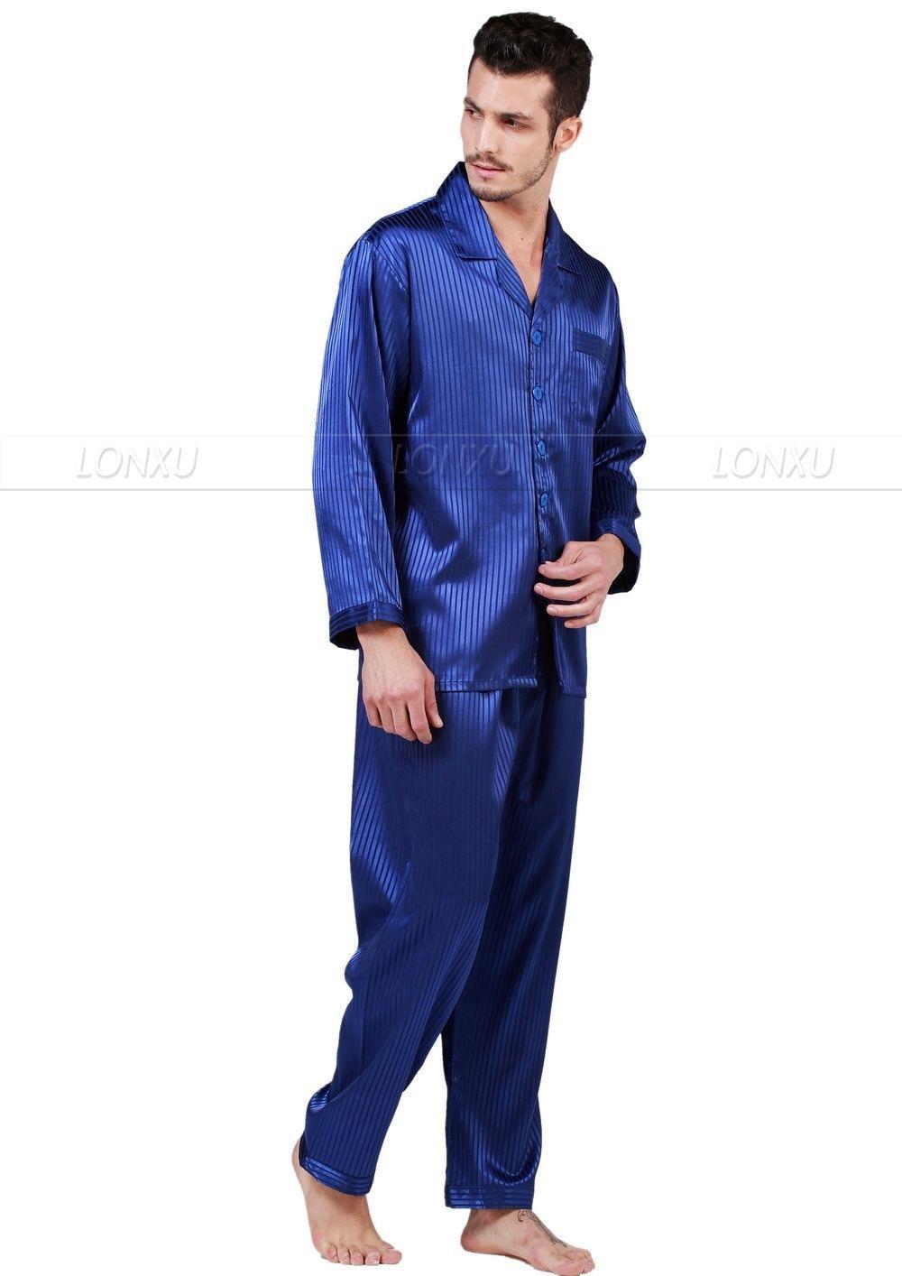 Image 3 - Мужские шелковые атласные пижамы набор пижамы Пижамный Набор пижамы Домашняя одежда S ~ 4XL большие и высокие-in Пижамные комплекты для мужчин from Нижнее белье и пижамы on AliExpress - 11.11_Double 11_Singles' Day