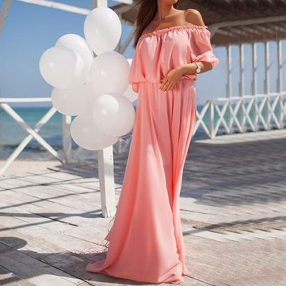 ̀ •́ 2018 mujeres verano playa Maxi vestido bohemio largo vestido de ...
