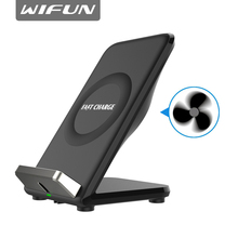 Wifun F18 QI быстро Беспроводной Зарядное устройство для samsung Galaxy S8 S7 S6 края для iPhone X 8 8 Plus Desk телефон подставка держатель Зарядное устройство