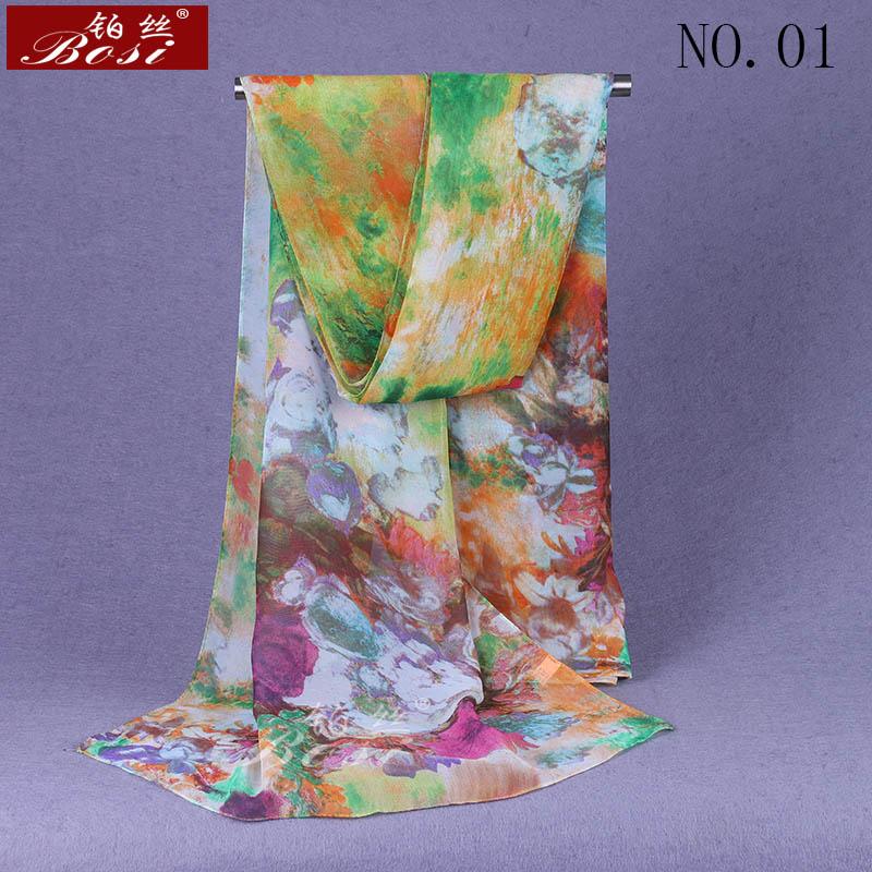 100% silk feel print Scarf Fashion hijab Shawls women scarves wrap Hijab cape female luxury brand stoles Floral muslim wrap