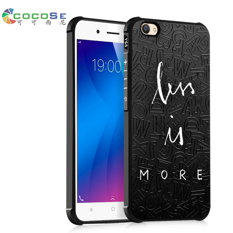VIVO Y66 case silicon back cover 3d carving painted phone coque COCOSE matte soft cute fundas anti-knock shell for Vivo Y67 V5