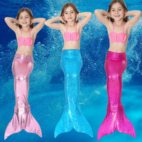 Baby Girls Children Lady Little Mermaid Tails Costume With Monofin Kids Tails Mermaid Cosplay Party Dress