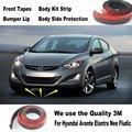 Lábios Adesivos de carro Para Hyundai i35 Avante Inokom Elantra GT Neo Fludic/Body Kit Tira/Fitas Frontal Lateral Do Chassi Do Corpo proteção