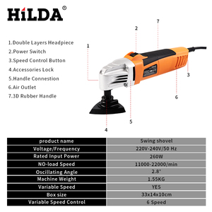 Image 3 - HILDA Renovator Multi Tools Electric Multifunction Oscillating Tool Kit Multi Tool Power Tool Electric Trimmer Saw Accessories