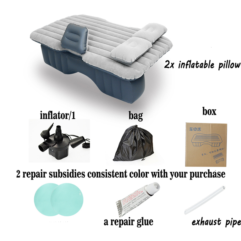 12V Pump Inflatable Mattress Car Back Seat Cover Air Mattress Travel Bed Portable Inflatable Camping Pad car sex bed travel high quality oxford cloth car travel inflatable bed automotive air mattress camping mat with air pump