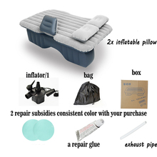 12V Pump Inflatable Mattress Car Back Seat Cover Air Mattress Travel Bed Portable Inflatable Camping Pad car sex bed travel
