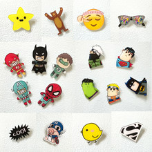 1 PC Harajuku Pin Badge Plastic Brooch Hero Badges for Clothes Icon on Backpack Acrylic Badges for Clothing(China)
