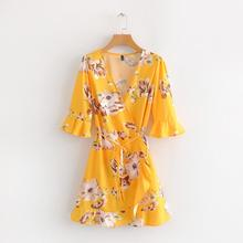 51046e61ef32a Buy yellow short dress and get free shipping on AliExpress.com