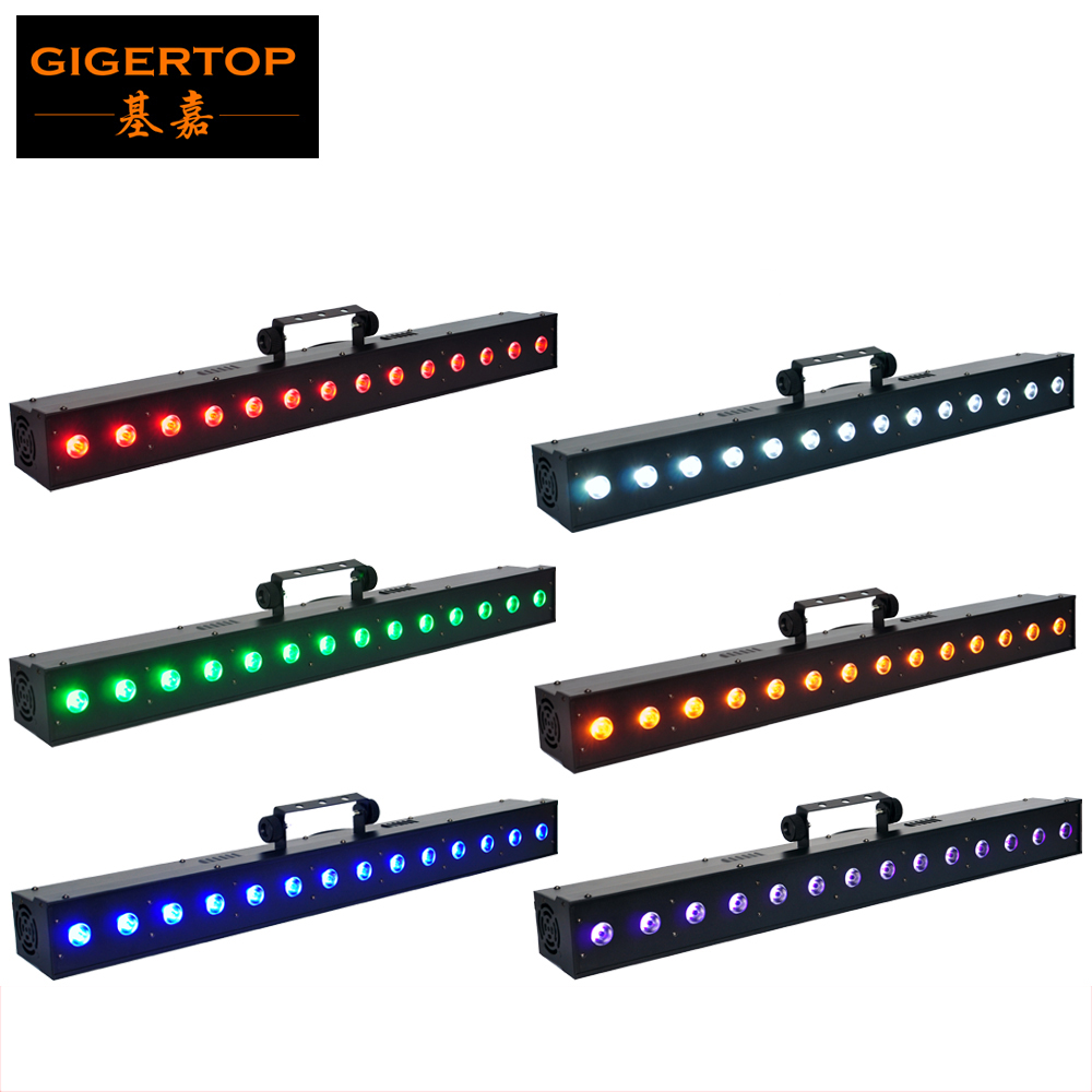 TIPTOP LED PRO BAR RGBWAU Wall Washer Light 14 PCS High MCD 18W 6 In 1 RGBWAU LEDs 11 DMX Control Channels Indoor Silent Bar