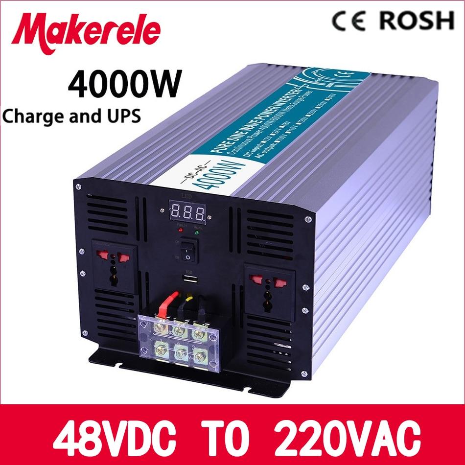 MKP4000-482-C 4000w UPS power inverter 48v to 220v Pure Sine Wave solar inverter voltage converter with charger and UPS p2000 482 c inverter 48vdc to 220vac 2000w solar inverter pure sine wave voltage converter with charger and