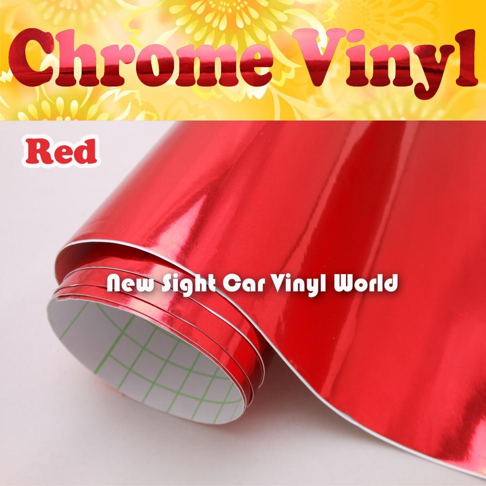 Taille libre de bulle d'air de Viny d'enveloppe de Chrome rouge à haute brillance: 1.52*30 M/Roll