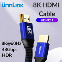 Unnlink HDMI Cable 1.8M UHD-2 8K@60Hz HDMI 2.1 HDR RGB 4:4:4 48Gbps HDCP2.2 for Splitter Switch PS4 TV xbox Projector Computer