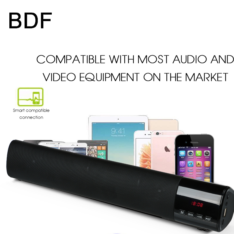 B28S Sound Bar Home Theater HIFI Portable Mini Bluetooth Speaker Wireless Stereo Loudspeakers Portable Hands-Free TF FM